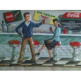 Cajas De Lámina / Coca Cola/ Vintage/adornos-3pz.