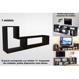 Mesa Rack Tv Lcd Led Mueble Armado 1 L Negro18 Enviocaba$100