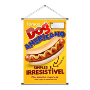 Banner De Hot Dog Americano  60x90cm