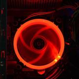 Fan Ventilador Pc 120mm Led Rojo 1200rpm Antivibracion