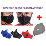 Mascara Antipolucion Moto Bicicleta Mtb Carbón Activado