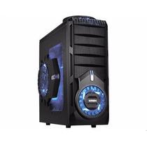Gabinete Gaming 4 Baias Preto Led Azul Cg-30s1 K-mex