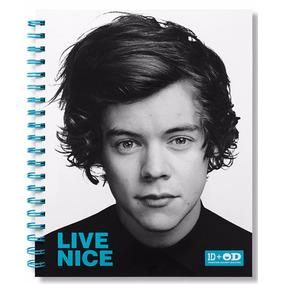 Cuaderno Carta One Direction Harry Azul Cubierta Plastica Ve