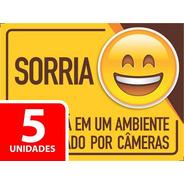 Adesivo Sorria Você Esta Sendo Filmado 20x15cm - 5 Unidade