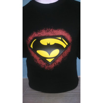 Playera Batman Vs Superman Con Luz Led Audioritmica