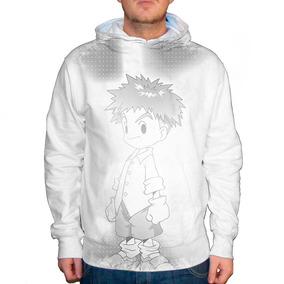 Blusão Digimon Izzy Gray Unissex Com Capuz