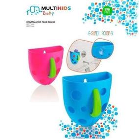 Organizador P/ Banho Bebê Porta Objetos Rosa Multikids Baby