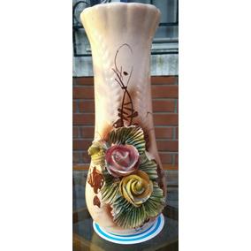 Florero Jarrón Antiguo-cerámica Porcelana-no Mueble Rgbiz