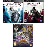 Assassins Creed 1 Y 2 + Saint Seiya Soldiers Soul Ps3 Digita