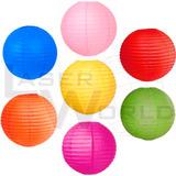 Lámpara Papel Color 40cm Globos Arroz Decorativa Farol Chino