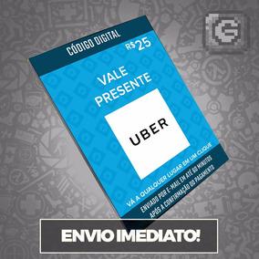 Cartão Vale Presente Pré-pago Uber R$ 25 Reais