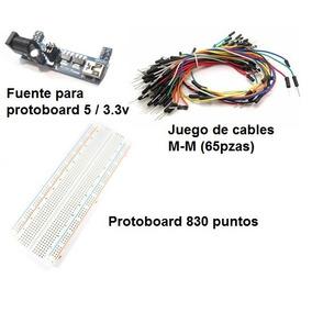 Kit Protoboard, 65 Cables M-m Y Fuente De Alimentación Usb