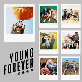 Kit 28 Polaroids Bts Kpop - Young Forever