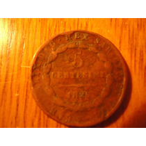 Moneda Italiana De 5 Centesimi Año 1826 Cd 48