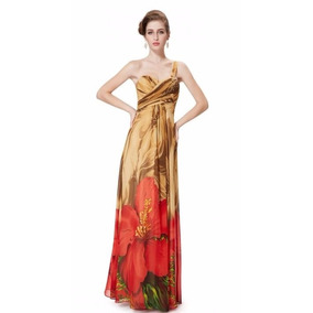 V1322 Vestido Elegante Marron, It Girls Colombia