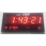 Led Clock Original Relógio Digital De Parede Painel 46x2cm
