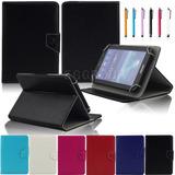 Soporte Universal Ajustable De Cuero Funda Para 7 Tablet A