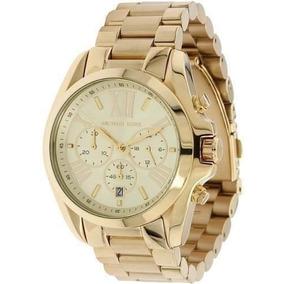 Relógio Luxo Michael Kors Mk5605 Gold Romano 43mm Ref0218