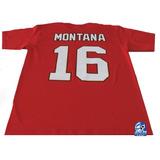 49s De San Francisco Playera Roja Mod Montana Nfl Danbr68