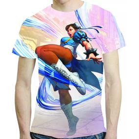 Camisa Game Street Fight V Camiseta Chu Li - Estampa Total