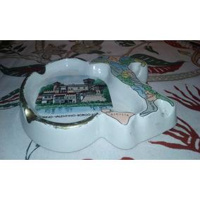Adorno Vitrina Cenicero Porcelana Recuerdo Torino D:11x12