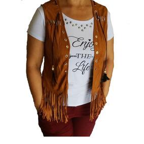 Camiseta Colete Feminino Suede Camurça Franja Outono Inverno