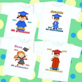 Playera Graduación Preescolar Personalizada Fiesta Infantil