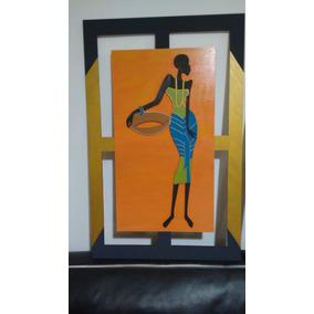 Cuadro Africana 71 X 46cm Decorativos