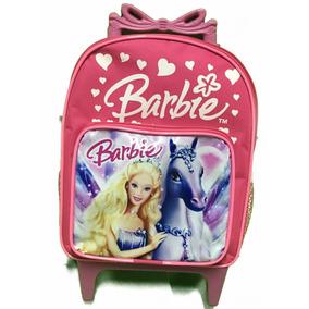 Mochila Da Barbie Pequena Com Rodinhas De 1 A 4 Anos Linda