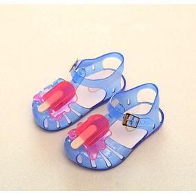 Sandalias Plásticas Azules Para Niña Talla 30