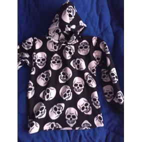 Blusa Frio Soft Caveira Ideal Para O Frio Com Capuz