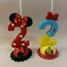 Topes Ceramica Con Velas Para Cumpleaños
