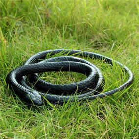 Cobra De Borracha Serpente Realística Preta