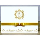 Convites De Casamento Com Fita E Brinde ( 1 Un.) Modelo Ec03