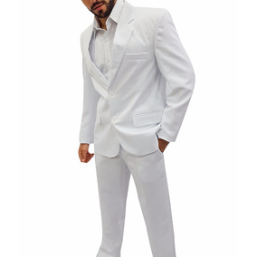 Terno Branco Oxford Masculino 42 Ao 58 + Frete Grátis