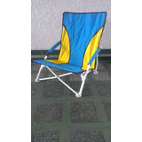Silla Playera Jardin O Camping Con Bolso Para Transporte