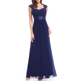 Vestido Fiesta Largo Gasa Azul, Envío Gratis! Serenity