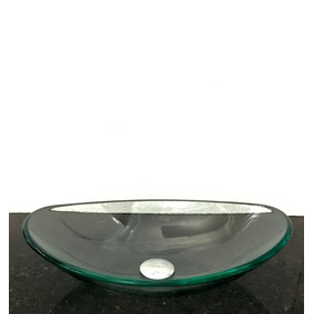 Kit Com Cuba Vidro Incolor Oval E Válvula Click