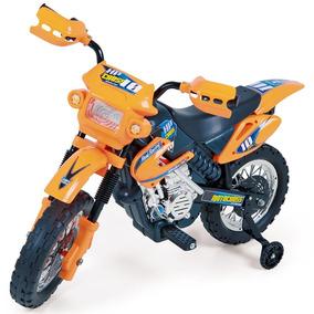 Moto Elétrica Infantil Motocross Laranja Homeplay