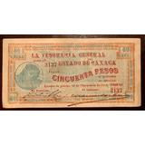 Billete De Oaxaca 50 Pesos