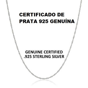 Promoção Corrente Prata 925 Masculina Fina 50 Cm Barato