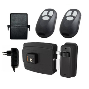 Kit Fechadura Elétrica +2 Controle Remoto + Receptor + Fonte