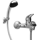 Ducha Monocomando C/flexible,duchador,soporte Línea Económic