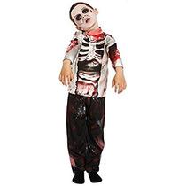 Disfraz Para Niño Muchacho Del Zombi Walking Dead Halloween