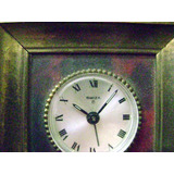 Antiguo Reloj De Mesa Vintage Swiza No Operativo