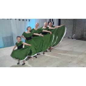 Vestido De Folclore Para Niños Y Adultos Bailarinas Y Ballet