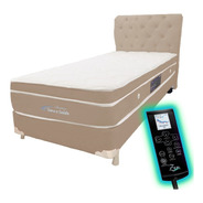 Colchão Magnético Solteiro Biomassageador Cromo Pillow + Box