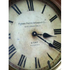 Reloj Pared Antiguo -de Barco - Bronce -latón -vintage-