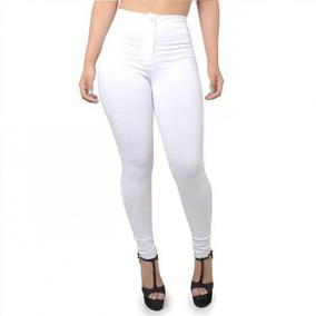 Kit 3 Calças Jeans Cintura Alta Feminina Cós Alto Panicat