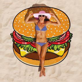 Lona Toalla Playa Verano Artentino Pizza Hamburguesa Dona